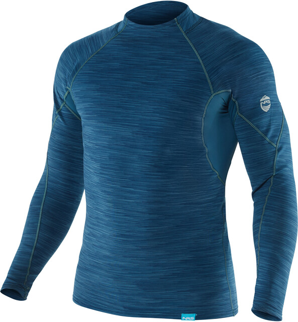 NRS M's HydroSkin 0.5 Long Sleeve Shirt Moroccan Blå
